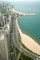 Lakeshore Drive View from John Hancock Observatory, Chicago, Illinois
