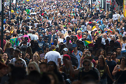 London, August 29th 2016. Thousands pack into Portobello Road and the surrounding streets during day two of Europe's biggest street party, the Notting Hill Carnival.