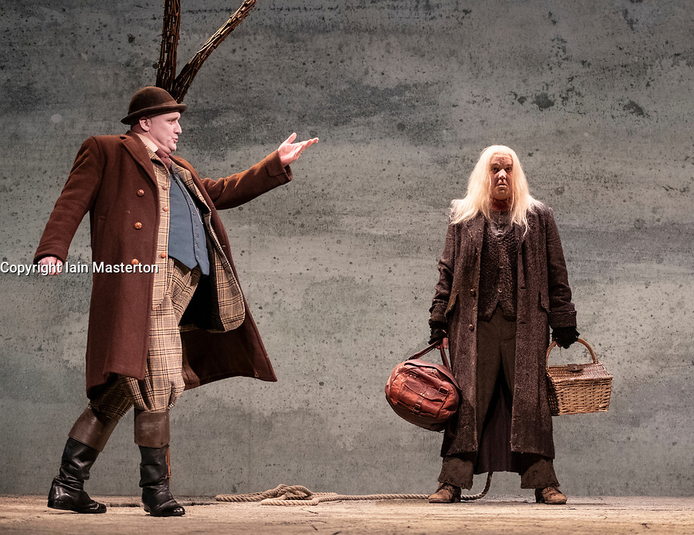 Edinburgh, Scotland, UK; 3 August, 2018. Waiting for Godot play by Samuel Beckett at the Lyceum Theatre at the Edinburgh international Festival. Performed by Druids theatre company and directed by Gary Hynes. Starring Irish actors; Garrett Lombard, Aaron Monaghan, Rory Nolan, Marty Rea.
