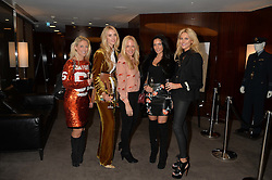 Left to right, PRU ONIONS, ZOE ONIONS, ROSIE NIXON, ANDRAYA SMITH and STEPHANIE PRATT at a screening of Paramount Pictures 'Allied' hosted by Rosie Nixon of Hello! Magazine at The Bulgari Hotel, 171 Knightsbridge, London on 23rd November 2016.
