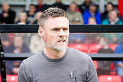 Graham Alexander during the EFL Sky Bet League 2 match between Salford City and Cambridge United at Moor Lane, Salford, United Kingdom on 12 October 2019.