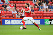 Charlton Athletic midfielder Ricky Holmes (11) dribbling during the EFL Sky Bet Championship match between Charlton Athletic and Bolton Wanderers at The Valley, London, England on 27 August 2016. Photo by Matthew Redman.