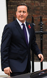 Chatham House, London, November 10th 2015. British Prime Minister David Cameron leaves  Chatham House after delivering a speech outlining his demands for EU reform.  // Licencing Contact: paul@pauldaveycreative.co.uk Mobile 07966 016 296