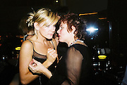 Michelle Collins and Ruby Wax. Gilda's Club party. Isola. London. 5/2/01 © Copyright Photograph by Dafydd Jones 66 Stockwell Park Rd. London SW9 0DA Tel 020 7733 0108 www.dafjones.com