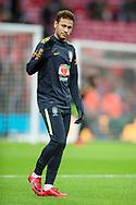 Neymar jr of Brazil warms up ahead of the international friendly match between England and Brazil at Wembley Stadium, London, England on 14 November 2017. Photo by Darren Musgrove.