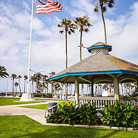 Picture of Newport Beach  Peninsula Park gazebo. Peninsula Park is located on Balboa Peninsula at the entrance of Balboa Pier in Newport Beach Orange County Southern California. Photo is high resolution and was taken in 2012