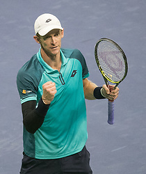 September 8, 2017 - Flushing Meadows, New York, U.S - Kevin Anderson defeats Pablo Carreno Busta in Semifinal game on Day Twelve of the 2017 US Open at the USTA Billie Jean King National Tennis Center on Friday September 8, 2017 in the Flushing neighborhood of the Queens borough of New York City.  Anderson defeats Carreno Busta. Anderson defeats Carreno Busta, 4-6, 7-5, 6-3, 6-4. (Credit Image: © Prensa Internacional via ZUMA Wire)
