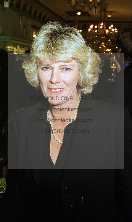 MRS CAMILLA PARKER BOWLES at a party in London on 13th October 1998.<br /> MKT 70