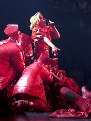 Lady in Red! Gaga begins World Tour in Vancouver with a colorful display of outfits. Lady Gaga kicked off her World Tour 'Joanne' in British Columbia, Canada. The singer had been in the city rehearsing for the tour for over a week. The concert last over an hour with lots of high energetic dancing and solo performance from Lady Gaga on the Piano and Guitar. The show was held at a sold out, packed Rogers Arena in Downtown, Vancouver. 01 Aug 2017 Pictured: Lady gaga. Photo credit: MEGA TheMegaAgency.com +1 888 505 6342