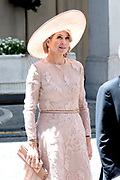 Staatsbezoek van Koning en Koningin aan de Republiek Italie - dag 1 - Rome /// State visit of King and Queen to the Republic of Italy - Day 1 - Rome<br /> <br /> Op de foto / On the photo:  koningin Maxima bij de Italiaanse premier van Italië Paolo Gentiloni tijdens het staatsbezoek aan Italie met Koningin Maxima<br /> <br /> Queen Maxima meet Italy's Italian Prime Minister Paolo Gentiloni during the state visit to Italy with Queen Maxima