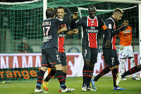 FOOTBALL - FRENCH CHAMPIONSHIP 2011/2012 - L1 - PARIS SAINT GERMAIN v TOULOUSE FC  - 14/01/2012 - PHOTO JEAN MARIE HERVIO / REGAMEDIA / DPPI - JOY NENE (PSG) AFTER HIS GOAL
