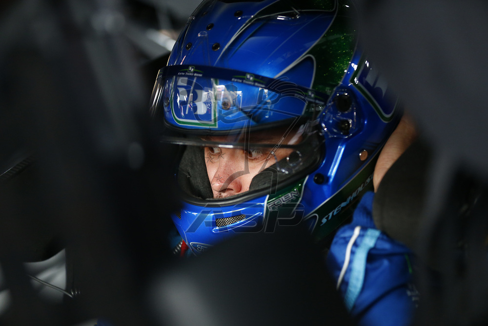 May 05, 2017 - Talladega, Alabama, USA: Ricky Stenhouse Jr. (17) hangs out in the garage during practice for the GEICO 500 at Talladega Superspeedway in Talladega, Alabama.