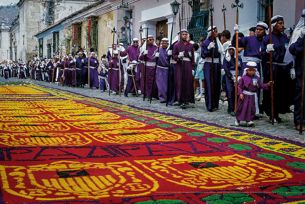 Holly Week in Antigua. Guatemala