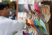 Bur Dubai Souq. Ladies' slippers.