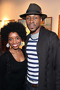 May 7, 2012- New York, NY United States: - (L-R) Actress Markita Prescott and Actor Wood Harris attend the post reception for Theater Talks at the Schomburg: A Streetcar Named Desire held at the Schomburg Center for Research in Black Culture, part of the New York Public Library on May 7, 2012 in Harlem Village, New York City. The Schomburg Center for Research in Black Culture, a research unit of The New York Public Library, is generally recognized as one of the leading institutions of its kind in the world. For over 80 years the Center has collected, preserved, and provided access to materials documenting black life, and promoted the study and interpretation of the history and culture of peoples of African descent.  (Photo by Terrence Jennings) .