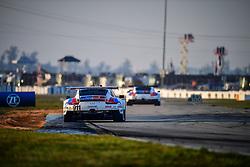 March 15, 2019 - Sebring, UNITED STATES OF AMERICA - 911 PORSCHE GT TEAM (DEU) PORSCHE 911 RSR GTLM PATRICK PILET (FRA) NICK TANDY (GBR) FREDERIC MAKOWIECKI  (Credit Image: © Panoramic via ZUMA Press)
