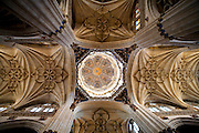 Cathedral ceiling, Salamanca, Spain during Semana Santa (Holy Week).