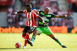 Swansea City's Andre Ayew tackles Southampton's Sadio Mane - Mandatory by-line: Jason Brown/JMP - 07966 386802 - 26/09/2015 - FOOTBALL - Southampton, St Mary's Stadium - Southampton v Swansea City - Barclays Premier League