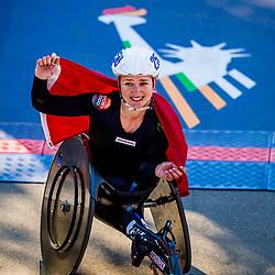 04-11-2018 USA: 2018 TCS NYC Marathon, New York<br /> Race day TCS New York City Marathon / Manuela Schar Win 2018 TCS New York City Marathon Title