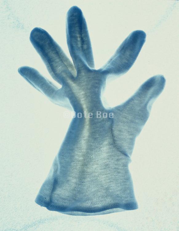 still life of a cotton glove