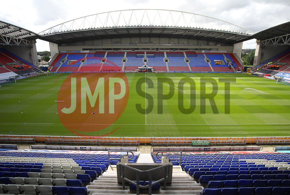 General view of the DW Stadium before the match - Mandatory by-line: Jack Phillips/JMP - 13/08/2016 - FOOTBALL - DW Stadium - Wigan, England - Wigan Athletic v Blackburn Rovers - EFL Sky Bet Championship