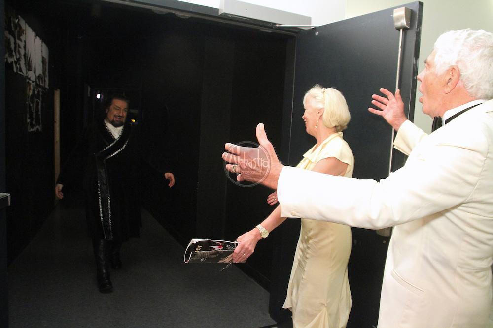 Seattle Opera Turandot Opening Night, 2012.  Backstage with the Raisbecks.