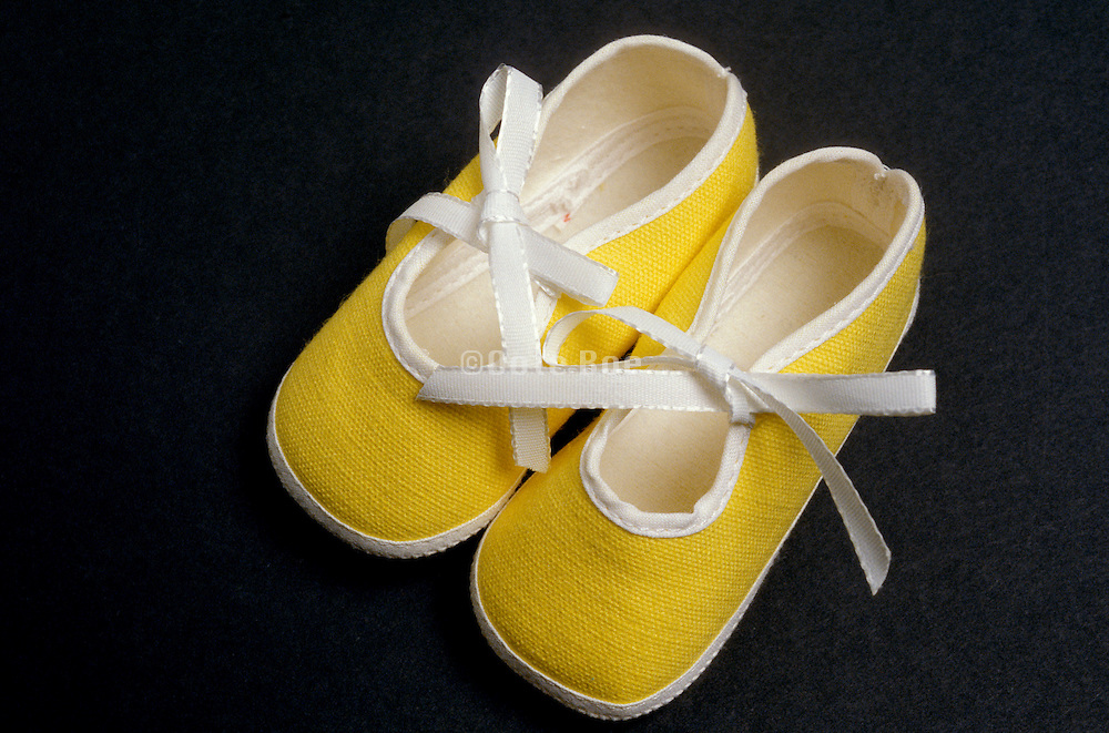 still life of a pair of baby shoes