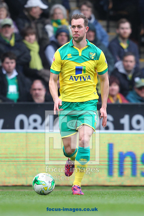 Steven Whittaker of Norwich in action during the Sky Bet Championship match at Carrow Road, Norwich<br /> Picture by Paul Chesterton/Focus Images Ltd +44 7904 640267<br /> 21/03/2015