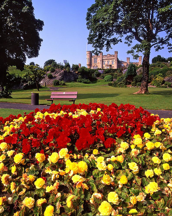 Douglas park and Castle, Dunoon, Argyll