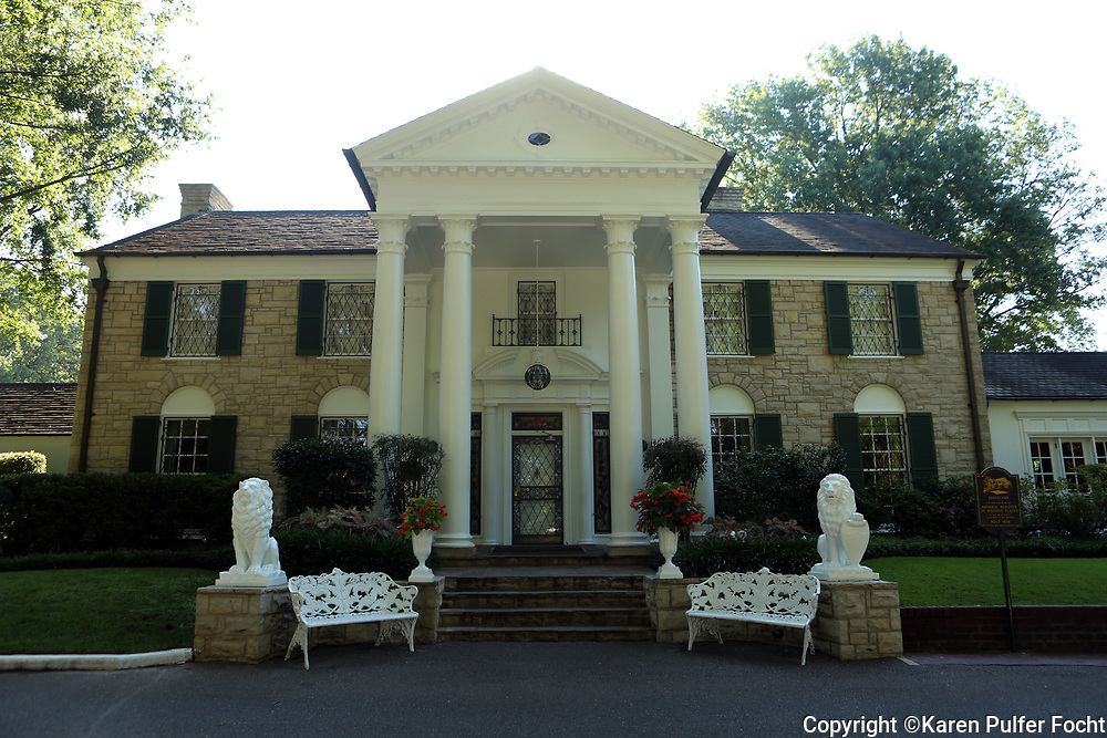 Graceland Mansion, Memphis, Tennessee is on the National Register of Historic Places.