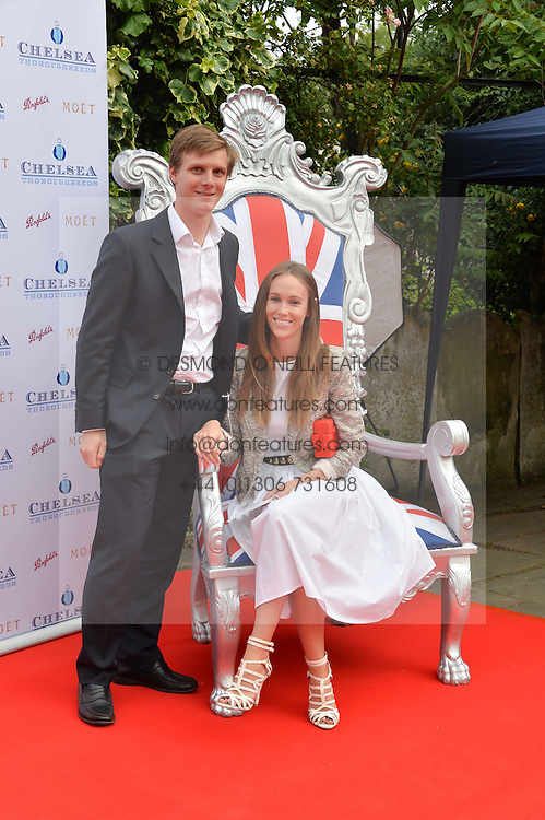 MAX SANGSTER and EVEIE LONGDON at the launch of Chelsea Thoroughbreds held at St.Luke's Church, Sydney Street, London on 2nd July 2014.