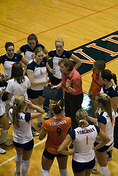 Virginia Cavaliers head coach Melissa Aldrich Shelton..The Virginia Cavaliers Volleyball team defeated the Florida State Seminoles 3 games to 1 at Memorial Gymnasium in Charlottesville, VA on September 20, 2007.