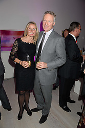 RORY BREMNER and his wife TESSA CAMPBELL-FRASER at a party to launch the Autumn/Winter 2013 Candy Magazine held at The Saatchi Gallery, Duke of York's HQ, King's Road, London on 15th October 2013.