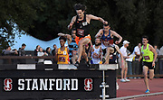 May 2, 2019; Stanford, CA, USA; Ryan Smeeton (338) of Oklahoma State wins the steeplechase in 8:27.90 during the 24th Payton Jordan Invitational at Cobb Track & Angell Field.