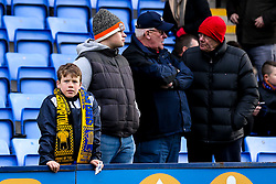 A Shrewsbury Town fan wears a half and half scarf ahead of his teams FA Cup Fourth Round tie with Wolverhampton Wanderers - Mandatory by-line: Robbie Stephenson/JMP - 26/01/2019 - FOOTBALL - Montgomery Waters Meadow - Shrewsbury, England - Shrewsbury Town v Wolverhampton Wanderers - Emirates FA Cup fourth round