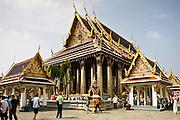 Tourists at Royal Temple of the Emerald Buddha,Wat Phra Keow, and Salarai, Bangkok, Thailand