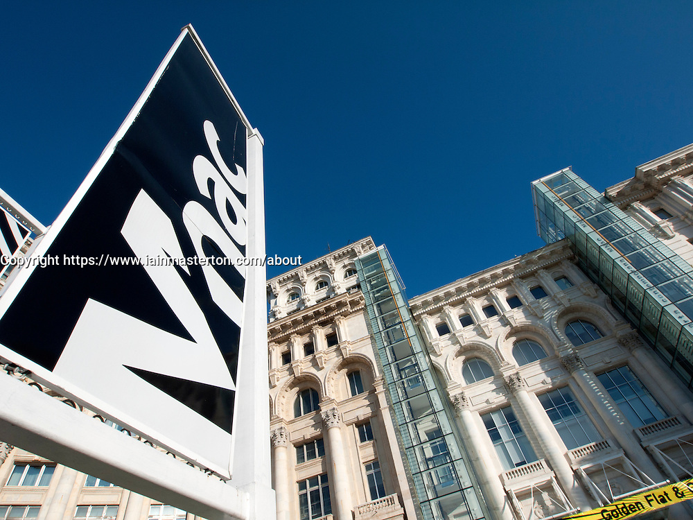 View of the Museum of Contemporary Art in Bucharest Romania