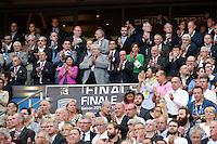 Paul GOZE / Pierre CAMOU / Francois HOLLANDE / Claude BARTOLONE / Patrick KANNER / Anne HIDALGO / Nathalie IANNETTA / Thomas SAVARE  - 13.06.2015 - Clermont / Stade Francais - Finale Top 14<br />Photo : Nolwenn Le Gouic / Icon Sport