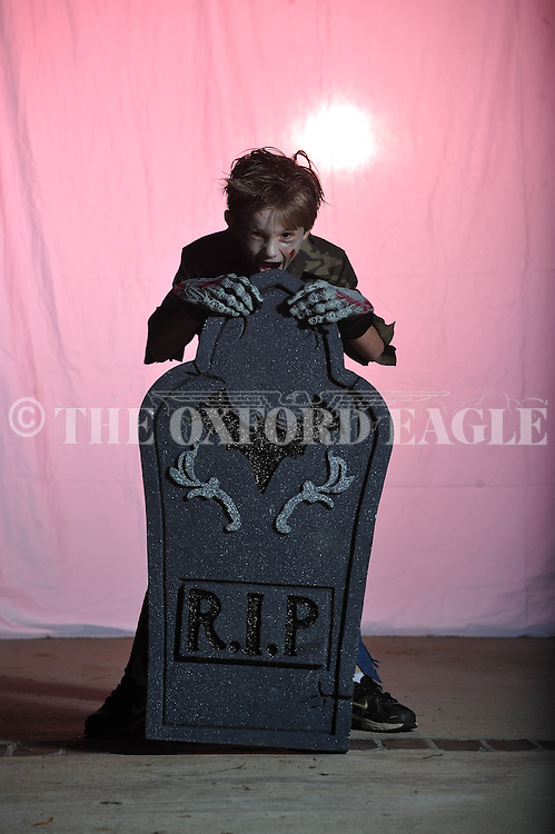 Jackson Newman poses on Halloween in Oxford, Miss. on Wednesday, October 31, 2012.