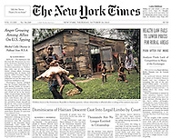 "THE NEW YORK TIMES. ""Dominicans of Haitian Descent Cast Into Legal Limbo by  Court"". A1. By Randal Archibald. October 24, 2013"