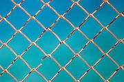 Close up fence, Hydra, Greece.