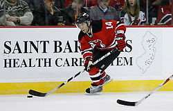 Mar 12, 2009; Newark, NJ, USA; New Jersey Devils right wing Brian Gionta (14) skates with the puck during the second period at the Prudential Center.