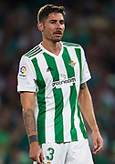 during the La Liga match between Real Betis and Levante at  on September 25, 2017 in Seville, .