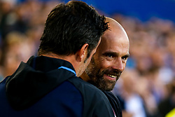 Rotherham United manager Paul Warne talks with Everton manager Marco Silva - Mandatory by-line: Robbie Stephenson/JMP - 29/08/2018 - FOOTBALL - Goodison Park - Liverpool, England - Everton v Rotherham United - Carabao Cup