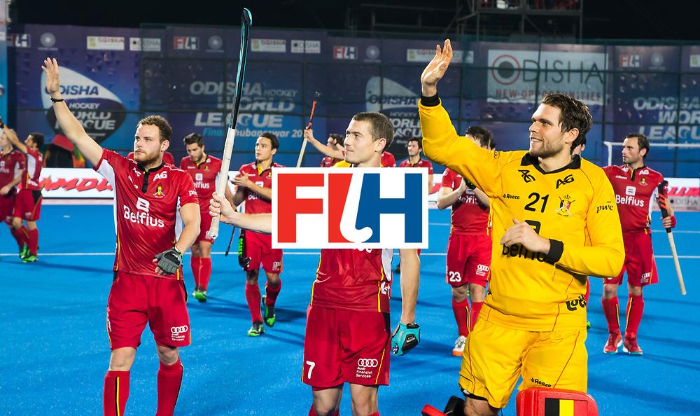 BHUBANESWAR - keeper Vincent Vanasch (Bel), B7/ , B   Hockey World League finals , wedstrijd om de 5e plaats. Belgie-Spanje.  COPYRIGHT KOEN SUYK