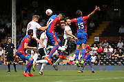 Fulham striker, Matt Smith (09) causing havoc in the Palace box during the Pre-Season Friendly match between Fulham and Crystal Palace at Craven Cottage, London, England on 30 July 2016. Photo by Matthew Redman.
