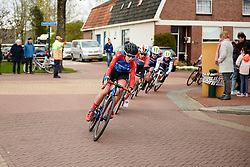 Lea Lin Teutenberg (GER) leads the chase on the final lap at Healthy Ageing Tour 2019 - Stage 5, a 124.3 km road race in Midwolda, Netherlands on April 14, 2019. Photo by Sean Robinson/velofocus.com