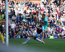Pierre-Emerick Aubameyang of Arsenal scores his sides second goal - Mandatory by-line: Jack Phillips/JMP - 12/05/2019 - FOOTBALL - Turf Moor - Burnley, England - Burnley v Arsenal - English Premier League