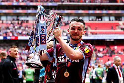 John McGinn of Aston Villa celebrates winning promotion from the Sky Bet Championship to the Premier League after winning the Sky Bet Playoff Final - Mandatory by-line: Robbie Stephenson/JMP - 27/05/2019 - FOOTBALL - Wembley Stadium - London, England - Aston Villa v Derby County - Sky Bet Championship Play-off Final
