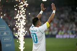 August 16, 2017 - Madrid, Spain - Real Madrid goalkeeper Keylor Navas on the pitch after the game. Real Madrid defeated Barcelona 2-0 in the second leg of the Spanish Supercup football match at the Santiago Bernabeu stadium in Madrid, on August 16, 2017. (Credit Image: © Antonio Pozo/VW Pics via ZUMA Wire)
